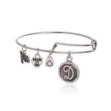 VAGULA D Letter Fashion Alex and Ani Design Bangle