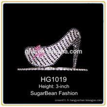 Couronne en plastique courte diadème tiara tiara en gros couleur couronne tiara en plastique pour les filles