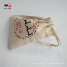 sacs de cordon en toile promotionnels personnalisés de couleur différente