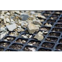 Géogrille composite en plastique en acier utilisée dans la mine de charbon