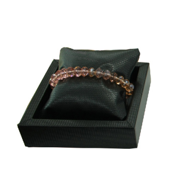 Black Leather PU Bracelet / Watch Pillow Display Stand (WS-BL-PB)
