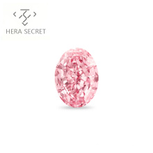 ForeverFlame  fancy pink 4.5ct 8mm*12mm vvs Oval Cut diamond CVD CZ Moissanite haute couture Women jewelry 18K ring