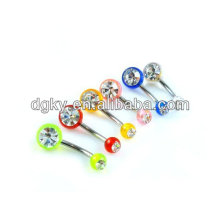 belly piercing belly bar body navel belly ring body jewelry piercing navel piercing belly bar rhinestone
