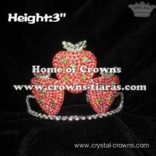Crystal Rhinestone Strawberry Princess Crowns
