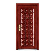 Porta de madeira de aço blindado