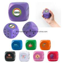 Werbe-Würfel PU Stress Bälle Stress Spielzeug Stress-Rollen