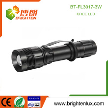 Factory Wholesale Aluminum Dimmable Handheld High Lumen Tactical Rechargeable Brightest 3watt Cree Best led Torch