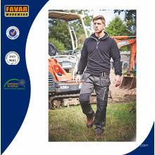 Pantalon de travail de travail uniforme d'hommes avec la protection de genou