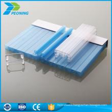 Flexible u locking cellular polycarbonate sheets for sound insulation
