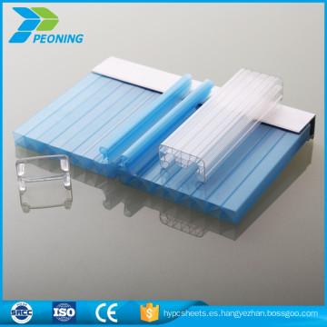 Flexible u Bloqueo de láminas de policarbonato celular para aislamiento acústico