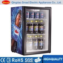 Porta pequena de vidro comercial do oem 98L mini mini refrigerador