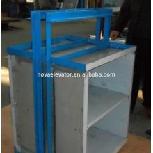 8 pisos 0.4m / s con la estructura de acero del canal Elevador del alimento / Dumbwatiter económico / tipo de tabla Dumbwaiter
