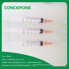 Disposable 2.5ml Hypodermic Syringe with Needle