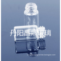 Screwed Clear Tubular Shaped Mini Glass Bottle