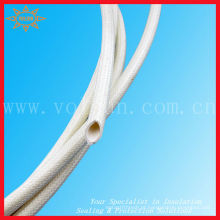 Mangas trançadas de borracha de silicone para isolamento de fibra de vidro