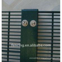 Clôture soudée de treillis métallique de haute sécurité