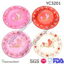 Set de platos de cerámica para la boda