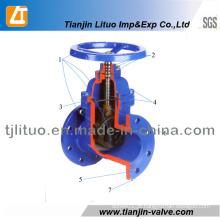 Válvula de porta da tubulação de água 3 polegadas