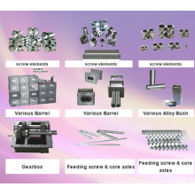 Spare Parts for Twin Screw Extruder: Screw Elements, Barrel, Gearbox, Axles, Alloy Bush, Feed-in System, Side Feeder, Mixer & So on