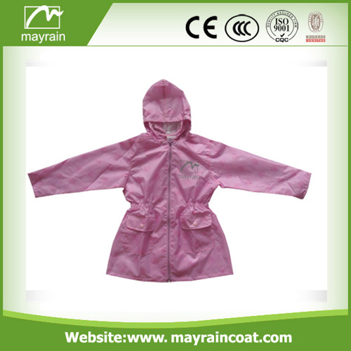 Polyester with PU Coating School Raincoat