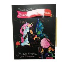 Niños del arte DIY de la tela que pintan el conjunto de tarjeta rasguñado