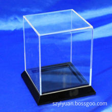 Clear acrylic box with black base, high-end gluing without any bubbles, crystal acrylic madeNew