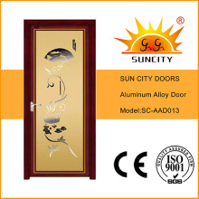 Двойным остеклением алюминиевые двери ливня (СК-AAD013)