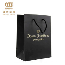 Guangzhou Custom Logo Nice Printing Luxury Jewelry Shopping Decorative Black Matte Retail Paper Gift Bags