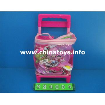 Set de cuisine en plastique pour jouet fille et maison de jeu (884004)
