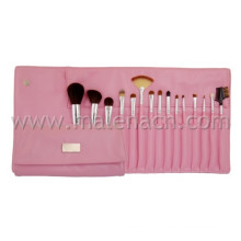 High Quality 15PCS Synthetic Hair Pink Cosmetic Makeup Brush Sets