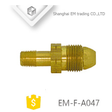 EM-F-A047 Macho Fio de cobre tubo de bronze conector de encaixe