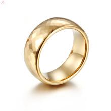 Joyería del anillo de oro de la banda de alta calidad, anillos de carburo de tungsteno pulidos de moda