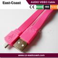 flat mini usb cable