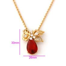 Китая оптом Xuping 18k позолоченный роскошные длинное ожерелье женщина