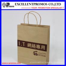 Logo impresso saco de compras Kraft Natural (EP-FP55515)