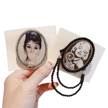Alloy Rhinestone Chain Beauty Korean Designer Brooch Pin for Women Girl Coat Sweater Accessories Vintage Badge Fashion Jewelry