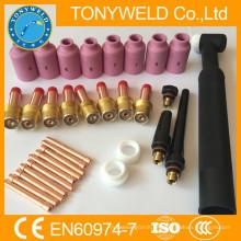 32 kits de piezas PK tig para piezas de repuesto wp26 tig torch