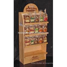 Bäckerei Einzelhandel Shop Gebäck Gewerbe Rack 4-Shelf Bodenbelag Brot Rustikale Holz Display Stand Zu Verkaufen