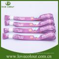 Benutzerdefinierte bunte einmalige Verwendung Wristband / Sublimation gedruckt Armband