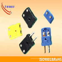 Black / yellow/ green color miniature thermocouple connector (type J. K. )