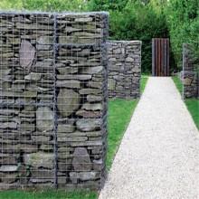 Panier de clôture en pierre de Gabion soudé