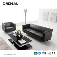 Orizeal Italian Leather Modern Office Sofa Set for Sale (OZ-OSF002)