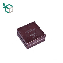 Luxury Square Dark Red Color Cosmetic Paper Box With Flocking Tray