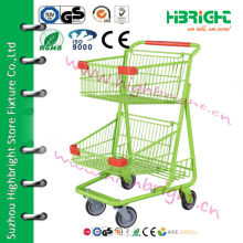 Корзина с корзиной для супермаркетов