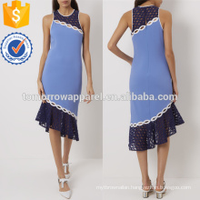 Blue Applique Racer Back Dress OEM/ODM Manufacture Wholesale Fashion Women Apparel (TA7123D)