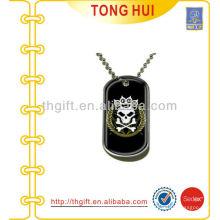 Skull King etiqueta de cão colar fornecedor de bijuterias