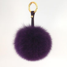 Fox Fur Ball Key Chain Fur Ball Keychain Fox Fur Pom Poms