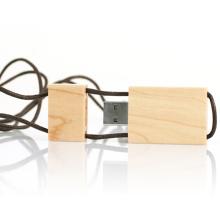 Schöne Holz USB-Stick Halskette Stil