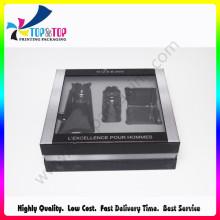2016 Newest Rigid Cardboard Window Packaging Box for Men Perfume