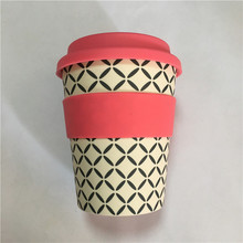 Eco-Friendly Takeaway Bamboo Fiber Travel Coffee Mugs